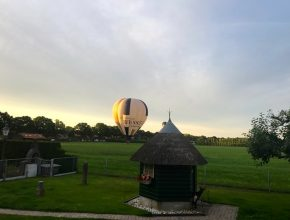 ballon in de moestuin